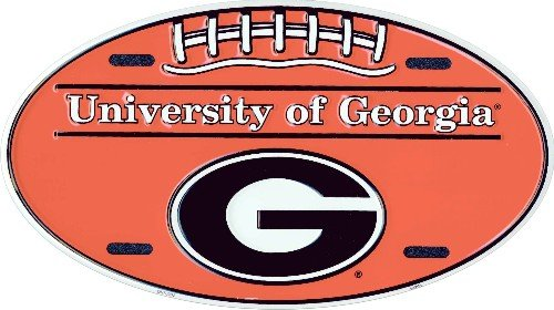 University of Georgia Oval License Plate Tin Sign 6 x (Oval License Plates Plate)