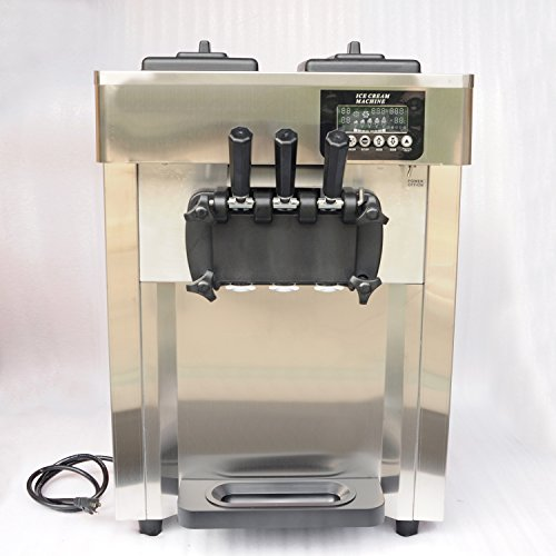 , Wotefusi Ice Cream Maker Machine with 3 Flavors Automatically for Commercial 110V 1.85KW