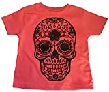 Custom Kingdom Little Girls Mexican Sugar Skull T-Shirt (18 Months, Pink)