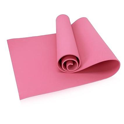 AOTUOTECH - Esterilla Antideslizante de 4 mm para Gimnasio, Yoga, Pilates, Ejercicio, Gimnasia