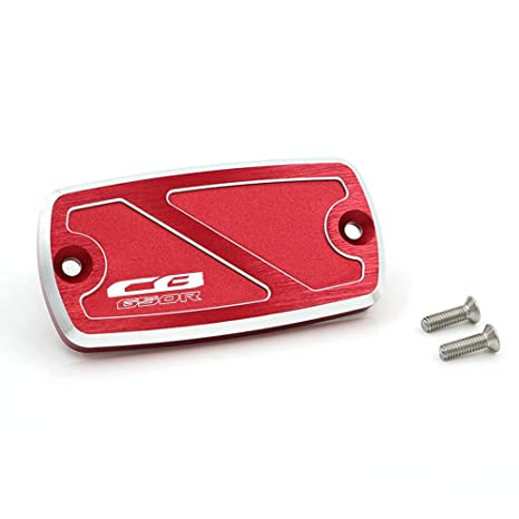 Red crazy sport Front Brake Fluid Reservoir Cover Cap For HONDA CBR650F CBR 650F 2014-2016 2015 Motorcycle Accessories CNC Aluminum With Logo