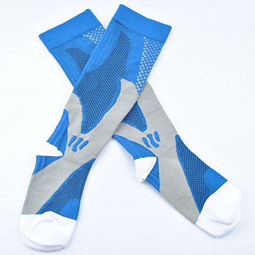 3 Pairs Compression Socks for Men and Women Graduated Athletic Socks for Sport Medical, Athletic, Edema, Diabetic, Varicose Veins, Travel, Pregnancy, Shin Splints, Nursing by Yodofa (Image #8)