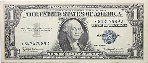 1957 Series B Silver Certificate in Very Good Condition -