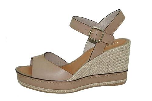 Casteller 568, Vaqueta Lino, Alpargata cuña: Amazon.es: Zapatos y complementos
