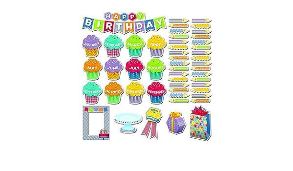 1758 Creative Teaching Press Woodland Friends Happy Birthday Mini Bulletin Board