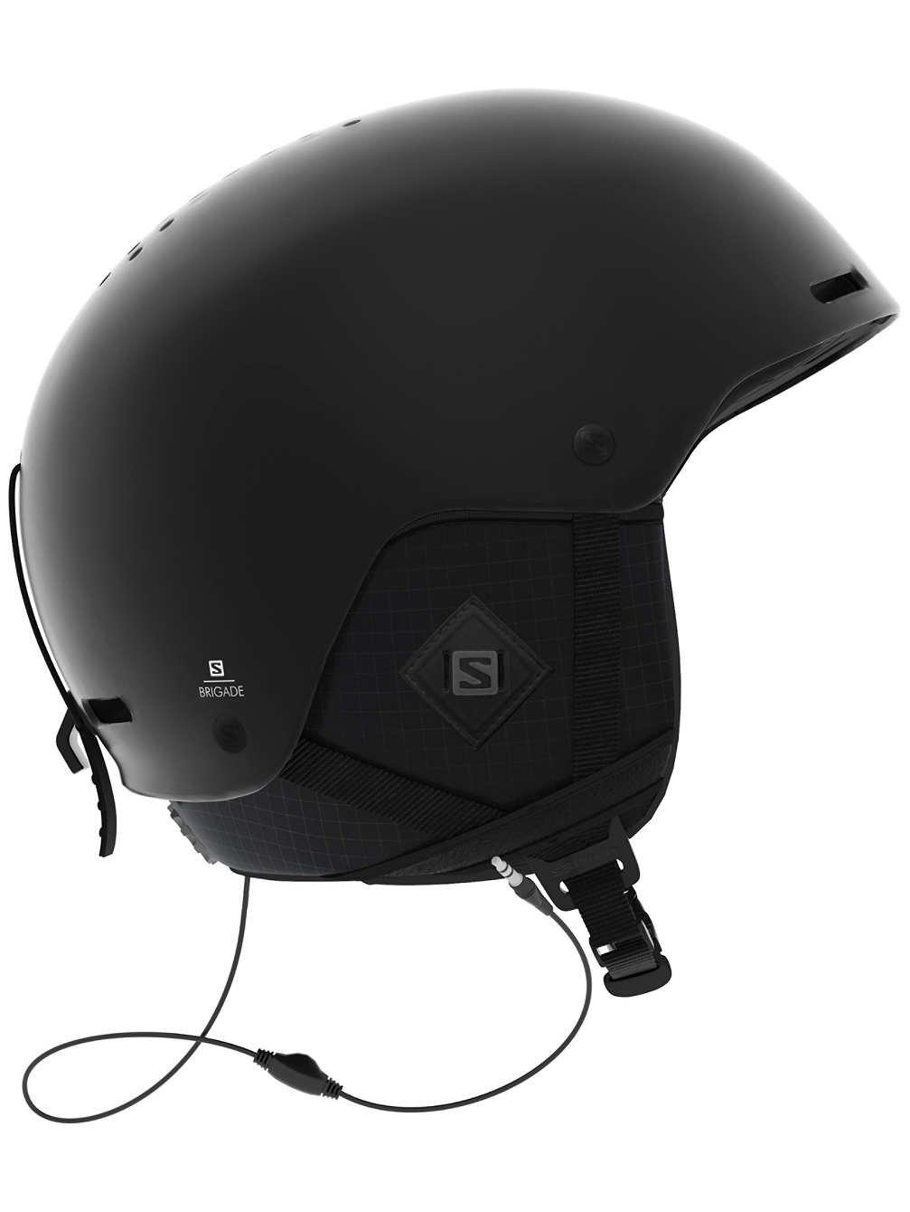 Salomon Herren Brigade+ Audio Ski- und Snowboardhelm, mit Audiosystem, ABS-Schale, Smart-Technologie