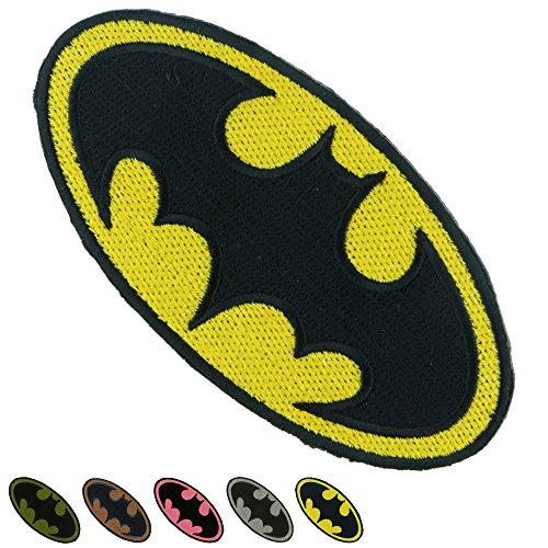 Iron Sew on Applique Patch : BATMAN Super Hero (Yellow) (Devil Man Adult Vest)