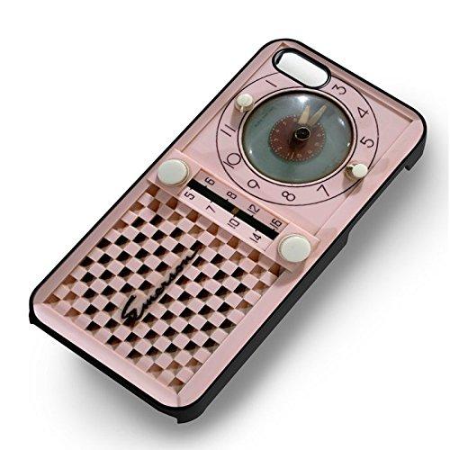 Pink Retro Radio pour Coque Iphone 6 et Coque Iphone 6s Case (Noir Boîtier en plastique dur) B1M8LJ