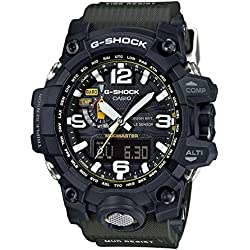 Casio Men's G-Shock GWG1000-1A3 Army Green/Black Resin Quartz Watch
