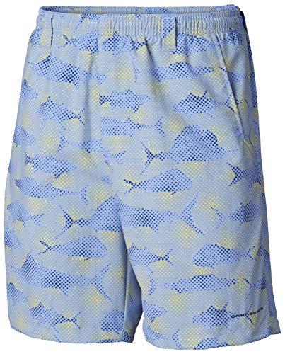 Columbia Men's Super Backcast Water Short, White Cap Multi Fish Print, Lx8