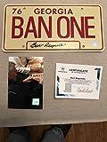Autographed Burt Reynolds Ban One License plate SSG