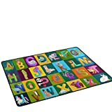 Funny Animals Alphabet ABC Preschool Education Area Rug Pad Non-Slip Kitchen Floor Mat for Living Room Bedroom 5′ x 7′ Doormats Home Decor For Sale