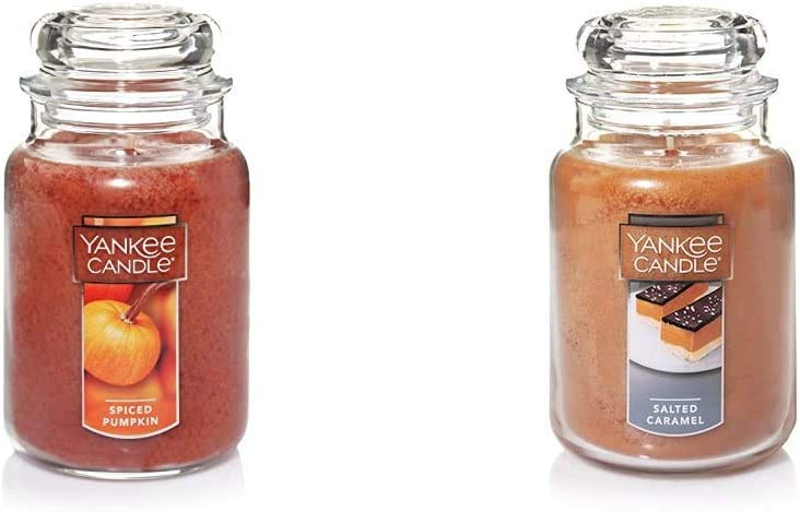 Yankee Candle Large Jar Candle Spiced Pumpkin & Large Jar Candle Salted Caramel