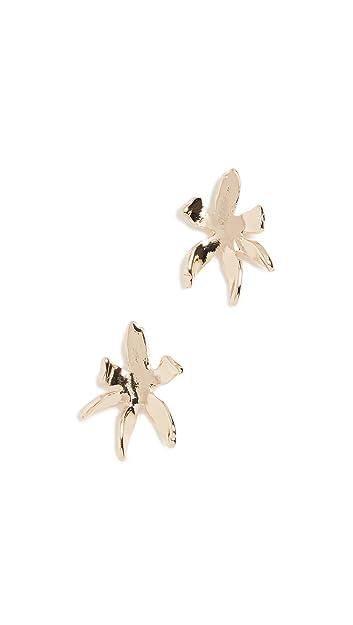 edc1cbab9 Amazon.com: Lele Sadoughi Women's Waterlily Stud Earrings, Gold, One ...