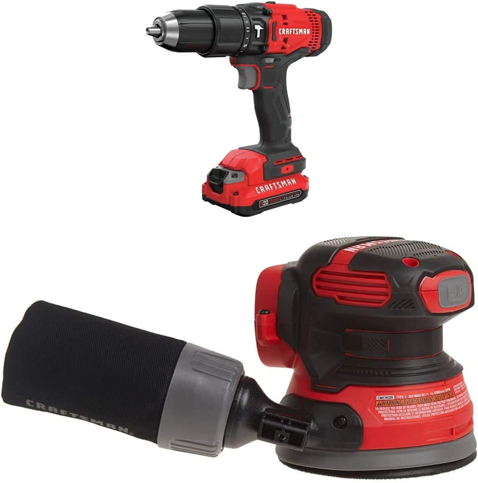 CRAFTSMAN V20 Cordless Spring new work one after another Hammer Drill Kit Orbit Random with Sander Recommendation