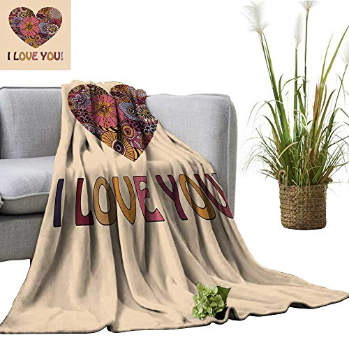 colerapee Faux Fur Throw Blanket Vector Valentine s Greeting Card Traveling,Hiking,Camping,Full Queen,TV,Cabin 51