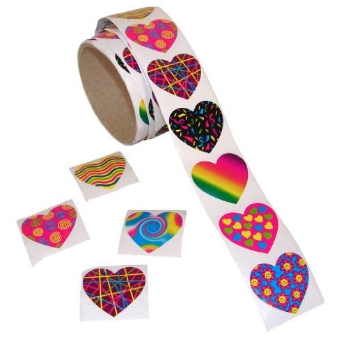 Fun Express Funky Heart Stickers