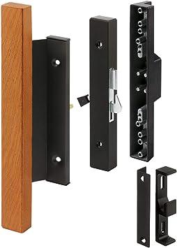 Prime-Line Products C 1105 tirador de puerta corredera de cristal Set con mango de madera, aluminio negro: Amazon.es: Bricolaje y herramientas