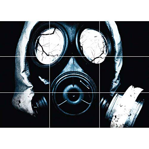 Doppelganger33LTD BLACK GAS MASK HORROR GOTHIC NEW GIANT POSTER WALL ART UNIQUE PRINT PICTURE G111]()