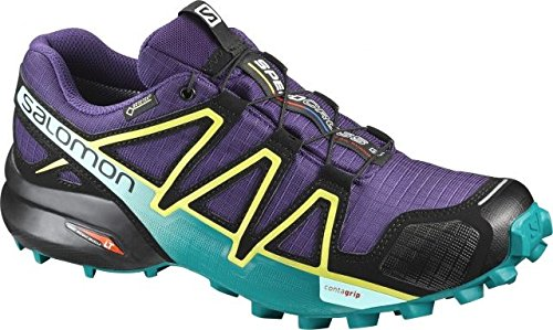 Salomon Men's XA Pro 3D Trail Running Shoes, Acai/Deep Peacock Blue/Sulphur Spring, 10 M US