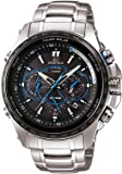 Casio Men's Eqs700db-1avdr Edifice Stainless Steel Multi-function Chronograph Watch Black and Blue Dial Eqs-700db-1a Limited Edition