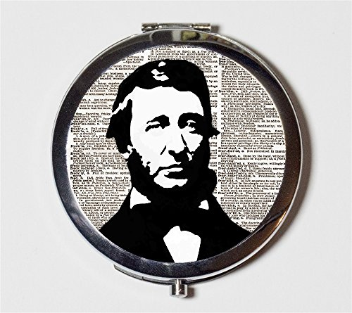 Henry David Thoreau Compact Mirror Walden Author Writer Naturalist Pocket Size for Makeup Cosmetics