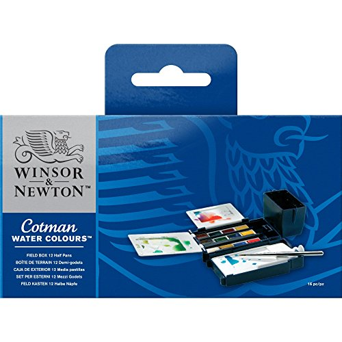 Winsor & Newton Cotman Water Color Field Box Set of 12 Half Pans Field Kit