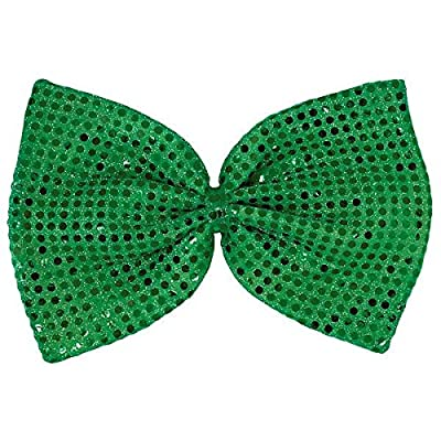 Amscan 318656 Green Party Accessory St. Patrick's Day Giant Sequin Bow Tie, One Size, Multicolor