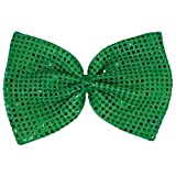 Amscan 318656 Green Party Accessory St. Patrick's Day Giant Sequin Bow Tie One Size Multicolor