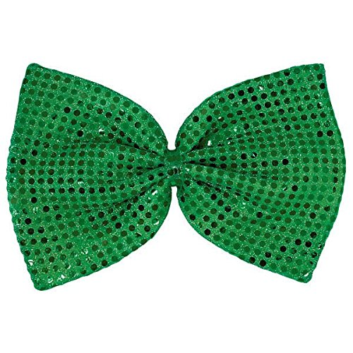 Amscan 318656 Green Party Accessory St. Patrick's Day Giant Sequin Bow Tie, One Size, Multicolor]()
