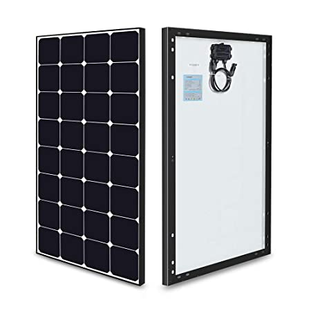 side facing renogy 100 watt 12 volt off grid solar premium kit