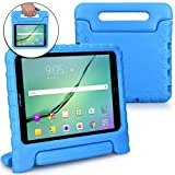 Samsung Galaxy Tab S3 9.7 case for kids [SHOCK PROOF KIDS TAB S3 CASE] COOPER DYNAMO Kidproof Child Tab S3 9.7 inch Cover for Boys, Toddlers | Kid Friendly Handle Stand, Light, Screen Protector (Blue)
