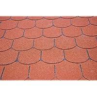 Bear County Dachschindeln Biberschwanz - Farbe: Rot