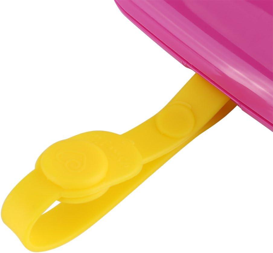 B/éb/é Ext/érieure Portable Wet Tissue Distributeur Cas Infantile R/éutilisable Poussette Landau Lingettes Bo/îte Pratique Tissu Cas Pour Voyage Wet Wipes Box rose + jaune