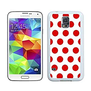 White and Red Dot Samsung S5 Silicone Phone Case Speck White TPU Durable Cover Gifts for Girls Friends by lolosakes