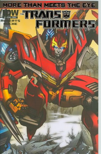 Hot Rod Rodimus Prime (The Transformers: More Than Meets The Eye #1 Hot Rod/Rodimus Prime Foil-Enhanced Cover c)