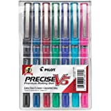 Pilot Precise V5 Stick Rolling Ball Pens, Extra Fine Point, Assorted Colors, 7 Pack -26015