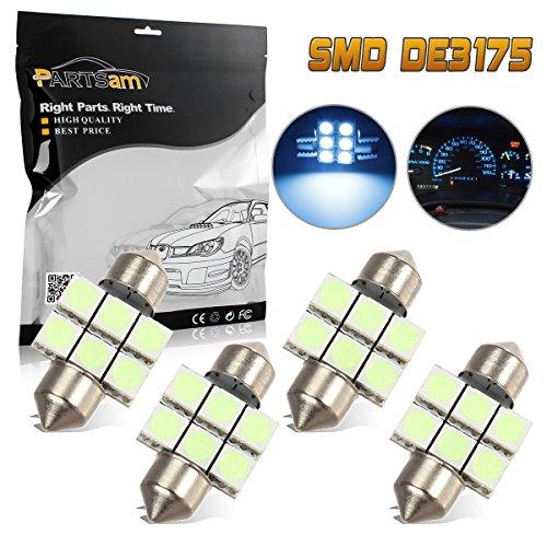Partsam 4x LED 6SMD Courtesy Interior Light Bulb Festoon Dome Lamp 31mm DE3175 Ice Blue For 1998-2011 Honda CR-V