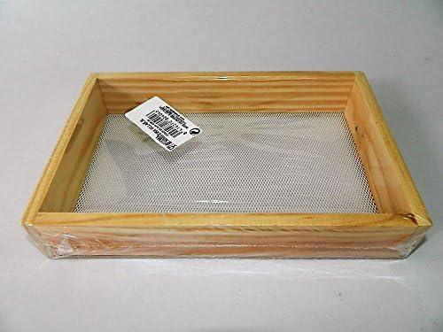 tamis /à farine bois cuisine rectangulaire 24x16cm