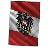 3dRose Carsten Reisinger - Illustrations - Flag of Austria waving in the wind - 12x18 Hand Towel (twl_180277_1)