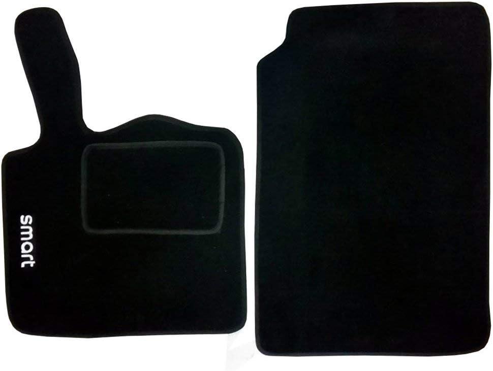 Tappetini auto in moquette con strappo compatibili per Smart 2a Serie W451 dal 2007 al 2015