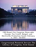 Crs Report for Congress, Fred Sissine, 1293251259