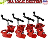 Reminder me 4 Pack Wood Gluing Pipe Clamp Kit Woodworking Cast Iron Set Profesional 1/2''
