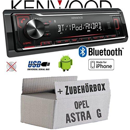 Opel Astra G - Autoradio Radio Kenwood KMM-BT204 - Bluetooth   MP3   USB   iPhone - Android - Einbauzubehö r - Einbauset JUST SOUND best choice for caraudio OpAsG_KMM-BT204
