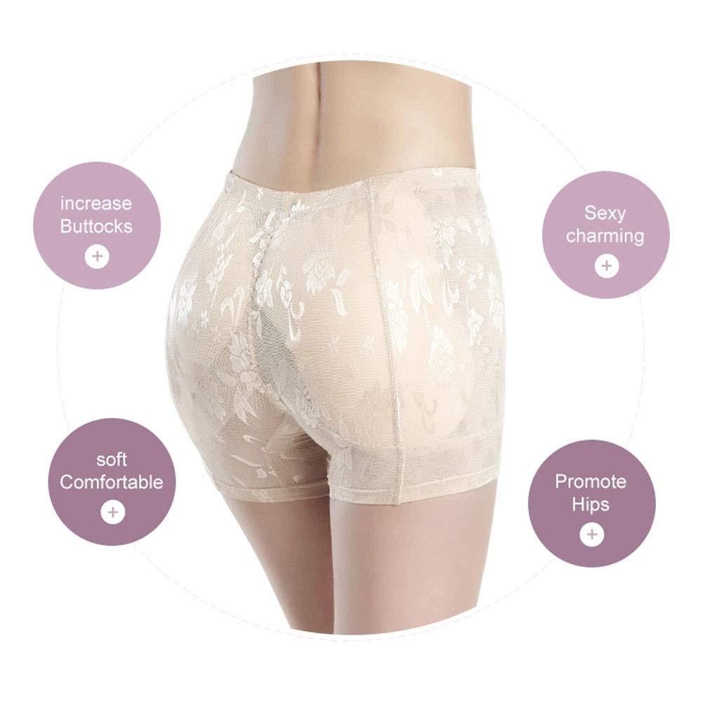 Skin Tone,Black,XXXL Control Panties Fake Buttocks Waist Ladies Foam Pad Hip Hip Enhancement Briefs Black