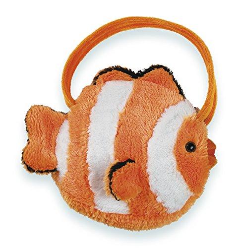 Bearington Bubbles Carrysome Girls Plush Clownfish Stuffed Animal Purse, Handbag 7 inches ()