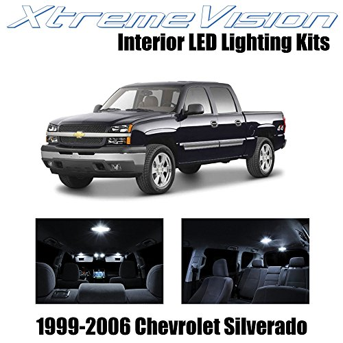 XtremeVision Chevy Silverado 1999-2006 (18 Pieces) Pure White Premium Interior LED Kit Package + Installation Tool