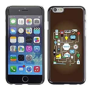Be Good Phone Accessory // Dura Cáscara cubierta Protectora Caso Carcasa Funda de Protección para Apple Iphone 6 // Funny Innovative Motivate Graph