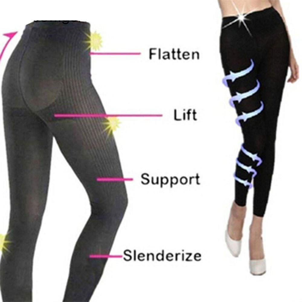 Stretchy Sculpting Sleep Leg Shaper Pants Legging Socks Women Thigh Slimmer Waist Breathable Bodysuit Shaper Panties Trousers (M, Black) by KONFA (Image #6)