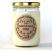 Christmas Tree Soy Candle, 12oz | Handmade in the USA with 100% Soy Wax